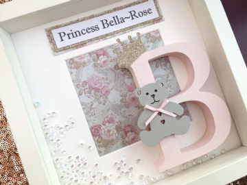 Baby Princess Initial Box Frame